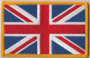 Great Britain Union Jack Embroidered Flag Patch, style 08.